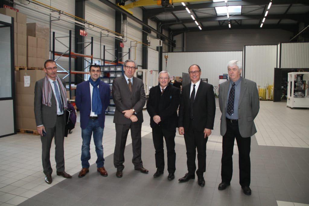 Die DMA Gruppe empfängt Herrn COCHET, den neuen Landrat von Ain