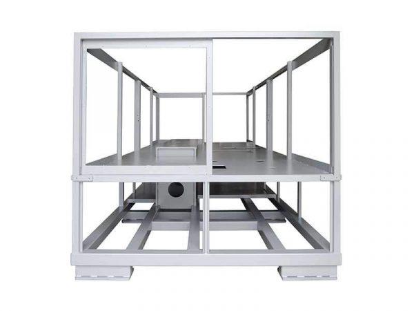 Rahmen einer Industriemaschine, hergestellt durch mechanisches Schweißen