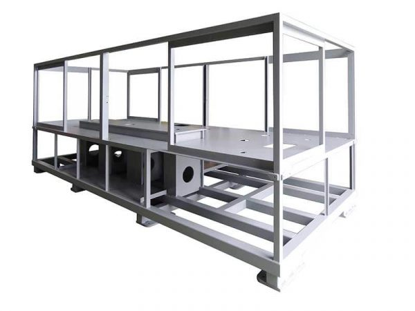 Mechanisch geschweißter Rahmen von DMA, Entwickler und Hersteller von Sonder- und Montagemaschinen.